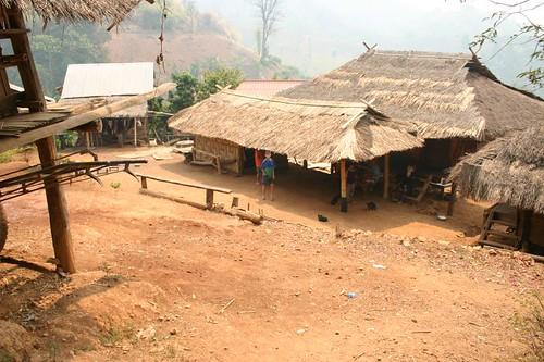 Akha village. Chiang Rai Province.