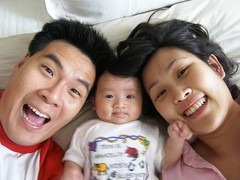 In bed with mom & dad