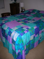 Queen bed pieced