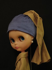 Girl With A Pearl Earring (girl enchanted) Tags: doll earring romance tink pearl kenner blythe vermeer 1972 scarlettjohansson girlwithapearlearring