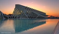 Sciences Museum at sunrise (Salva del Saz) Tags: city santiago panorama espaa valencia mu