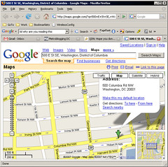 Google Maps DC Bug
