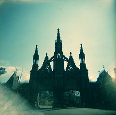 The Tower (Squid Ink) Tags: newyorkcity tower cemetery brooklyn holga greenwoodcemetery gothamist