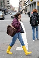 Yellow Rain Boots (S.D.) Tags: nikon walk walkabout gothamist vr 2007 dx 18200mm d80 nikond80 march2007