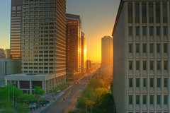 Downtown Phoenix Sunrise High Dynamic Range PICT0021_2_3 (the_flinx) Tags: phoenix sunrise high downtown dynamic badge range