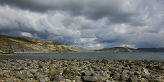 Jurassic Coast (Joe Dunckley) Tags: uk sea england clouds landscape dorset beaches lymeregis goldencap worldheritagesites jurassiccoast lymebay 2for2 westdorset 123s 123l stonebarrow