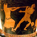 Mixing Vessel (krater) with the  Death of Orpheus Greek made in Athens 460-450 BCE and attribed to the Villa Giulia Painter terracotta (1)