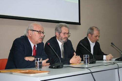 Θανός Βερέμης και Γιάννης Κολιόπουλος στη δημόσια Βιβλιοθήκη της Βέροιας