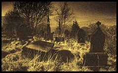 Abandoned (andrewlee1967) Tags: uk england blackandwhite bw monochrome cemetery mono lancashire andrewlee canon400d andrewlee1967 andylee1967 focusman5