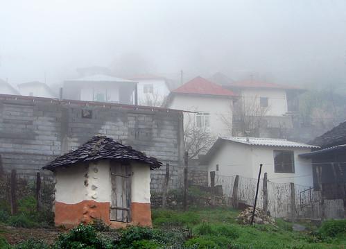 Wc entre la niebla