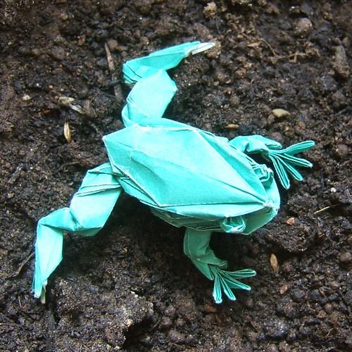 ハート 折り紙:カエル 折り紙 作り方-divulgando.net