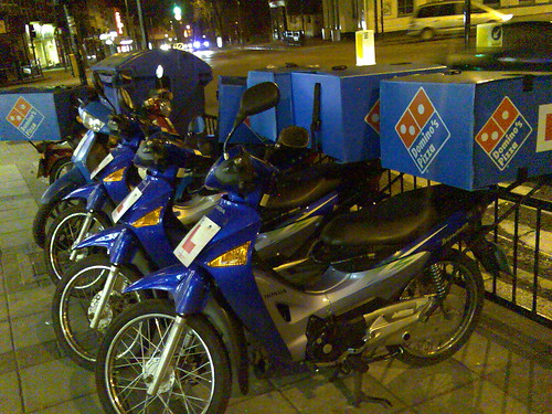 Domino's Pizza bikes