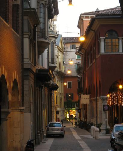 Verona street in Verona, Italy
