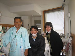 Dengan Arifin & Mbak Wiwid (Photo Blog 0001) Tags: ibu hati todai jepang bapak operasi arifin 20070403