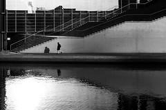 Shadow & reflection (Markus Moning) Tags: shadow blackandwhite bw white house black reflection berlin marie stairs river germany deutschland grey district haus grau bank pedestrian stairway treppe government sw ufer schwarzweiss fluss spree canoneos350d weiss schatten elisabeth schwarz reflektion passant regierungsviertel moning fussgnger marieelisabethldershaus 123bw lders markusmoning