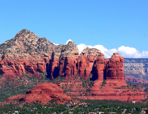 Sedona Arizona - Coffee Pot Rock from Airport Mesa