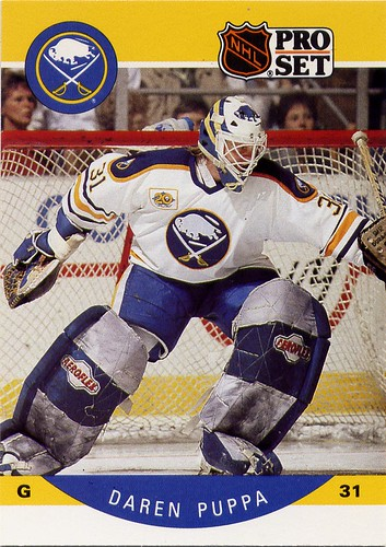Daren Puppa, Buffalo Sabres, Pro-set, 90-91, hockey cards