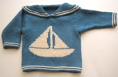 Brendan nautical baby sweater