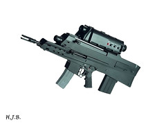 SMG (exactlyh) Tags: sexy weapon guns aug smg ammo