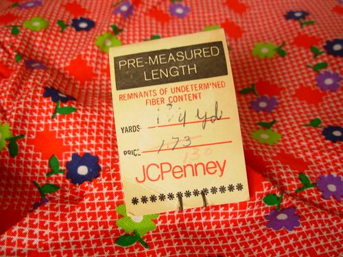 vintage fabric tag