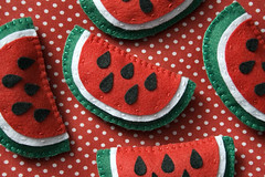 Broche Melancia (Rocked My Soul) Tags: frutas fruits brasil pin broche handmade pregadeira craft felt watermelon melancia polkadots feltro botton