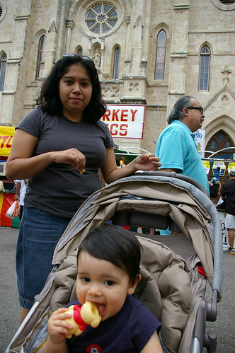 Rachel and Mama at Fiesta