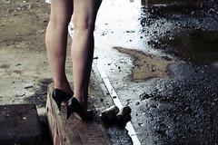 kick (helveticaneue) Tags: abandoned water fashion sarah vintage puddle clothing shoes floor april powerplant 2007 ambler stylist spraycansheels