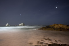 rocks, surf, sky and stars (john curley) Tags: sanfrancisco night nightshot landsend sutrobaths nightshots topv777 sealrock abigfave botopv0507