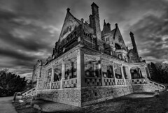 Craigdarroch Castle (DARREN ST0NE) Tags: white canada black castle 20d night canon eos interesting bc britishcolumbia victoria explore soe hdr craigdarroch explored flickrsbest abigfave darrenstone lightgazer diamondclassphotographer flickrdiamond spittinshells