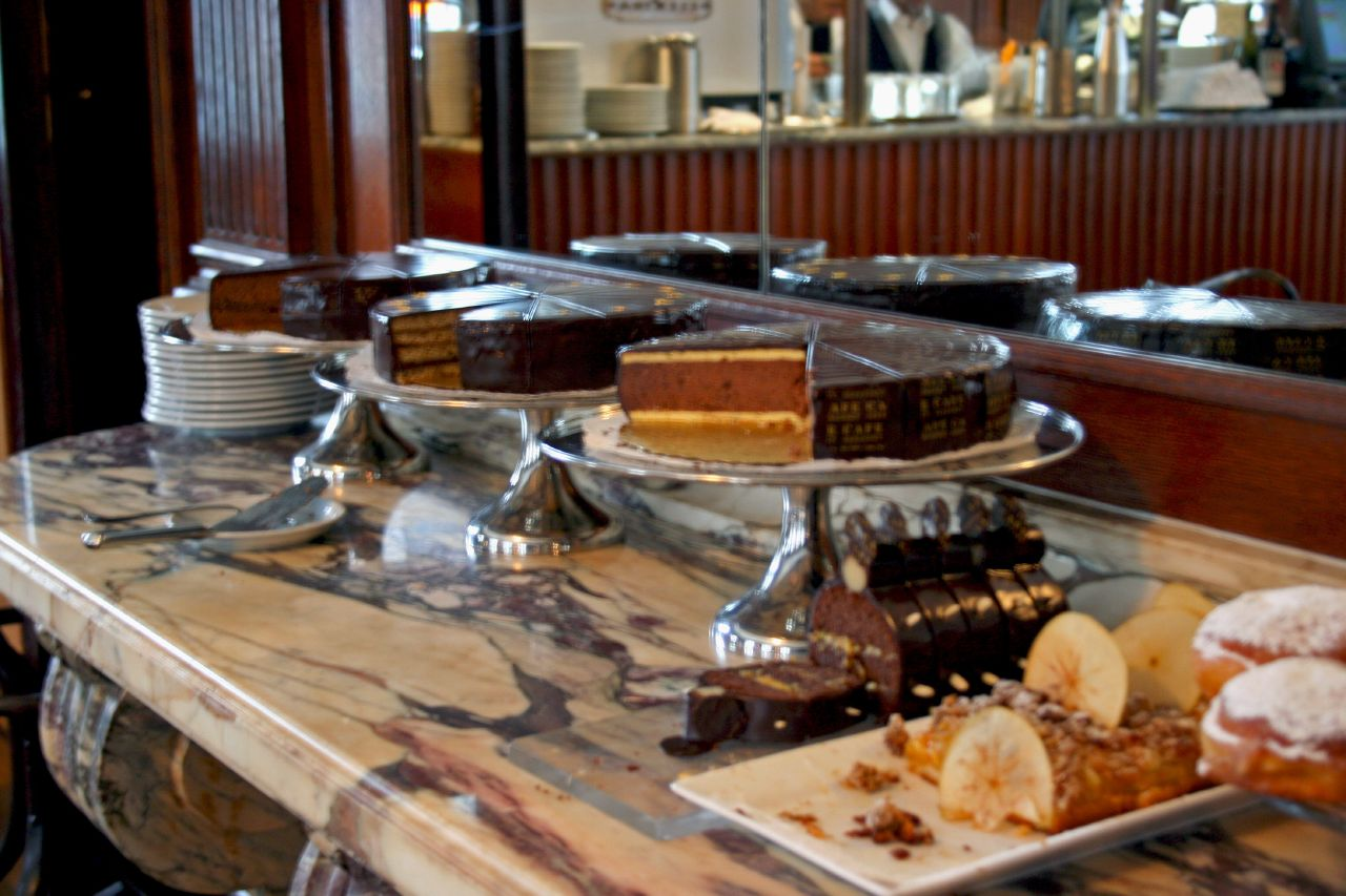 Part of the dessert bar in Cafe Sabarsky