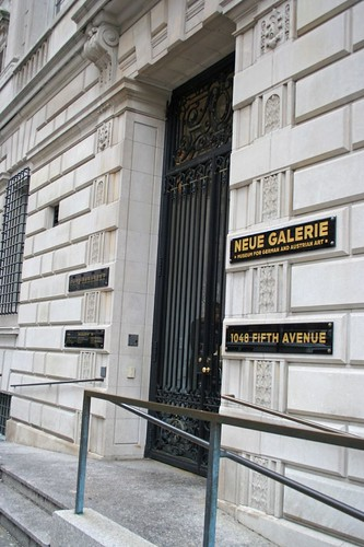 Entrance to Neue Gallery/Café Sabarsky