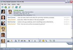 Tabbed chat in Lotus Sametime 7.5.1