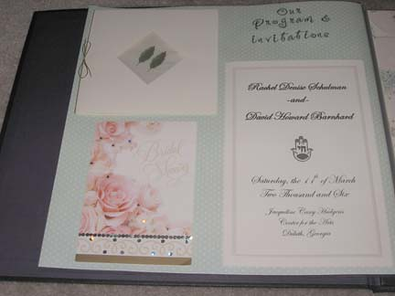 A wonderful way to start your scrapbooking tradition is with a wedding