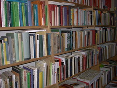 My colorful library by library_mistress on Flickr!