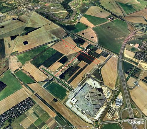 balade de saint-Pierre, sàƒ©nart - Google Earth avec trajet