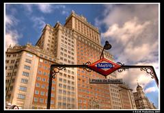 Plaza de Espaa - HDR (R.Duran) Tags: madrid espaa building underground spain nikon espanha europa europe edificio d200 espagne hdr 3xp 18200mmf3556gvr nikon18200mm tthdr