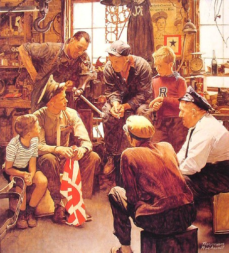 Norman Rockwell - Homecoming marine by qphat.