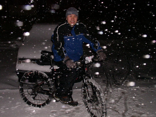 bicycle snow tire chains how to