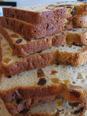 Cardamom Flavored Fruit Bread - Slices