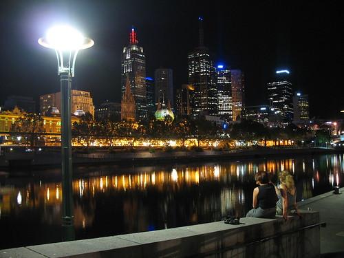 Melbourne after dark