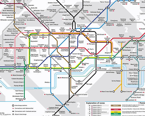 Mapa del Metro Londres Atribución Creative Commons / Flickr: davidhc