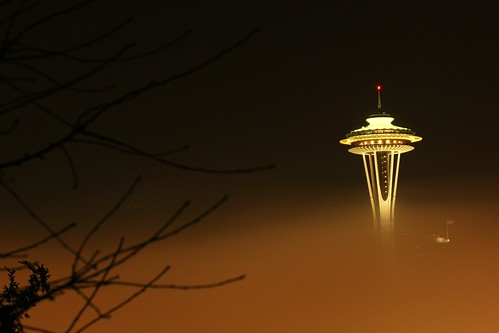 Space needle early in the morning