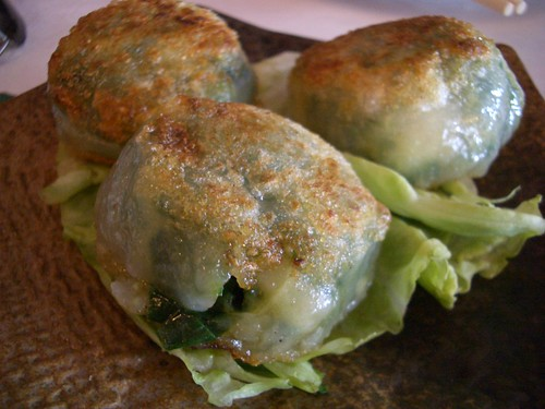 pan fried chive dumplings