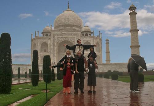 Family at the Taj, sunny