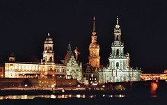 Dresden Spires at Night (monika & manfred) Tags: reflection architecture buildings germany dresden europe cityscape nightshot spires eu mm elbe centraleurope msh0407 colorphotoaward impressedbeauty utata:color=black manfredstravelpics dec3102007 msh040710 utata:project=upportfolio
