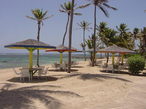 Playa privada del Nisbet Plantation Beach Club