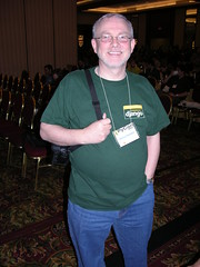 Steve Holden in Django t-shirt