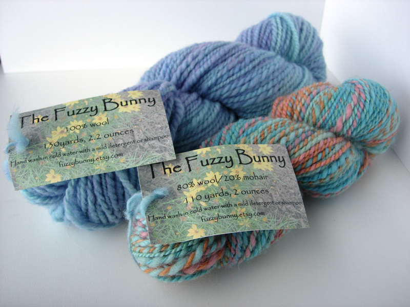 Handspun Yarn from The Fuzzy Bunny