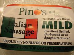 Pino's mild Italian sausage
