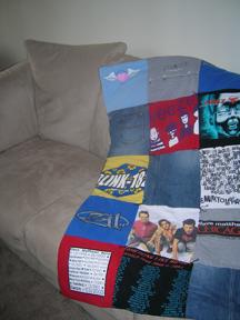 Concert Tee Shirt Quilt